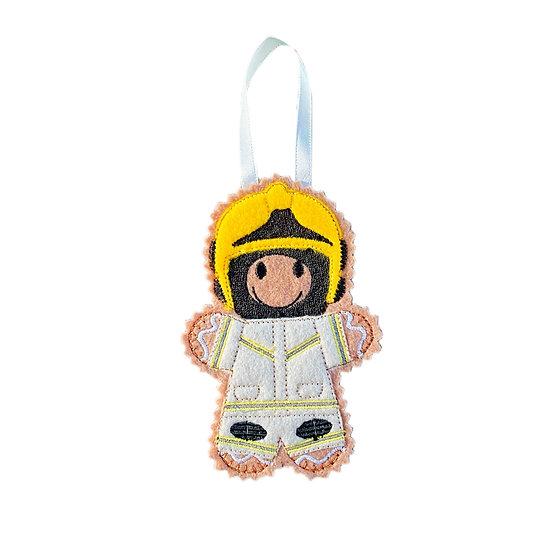 Fire Fighter / Fireman Gingerbread Man Decoration