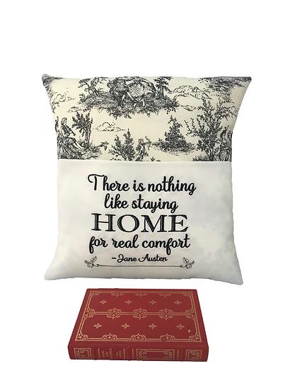 Jane Austin Quote Book Cushion