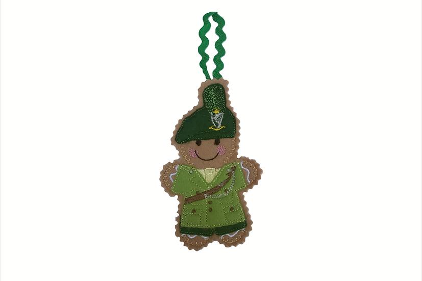 Irish Soldier Gingerbread Man Decoration