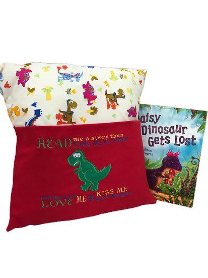 T-rex Dinosaur Themed Book Cushion