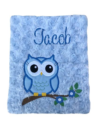 Blue Owl Baby Blanket