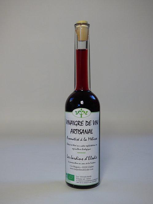 Vinaigre de vin rouge aromatisé à la mélisse Bio
