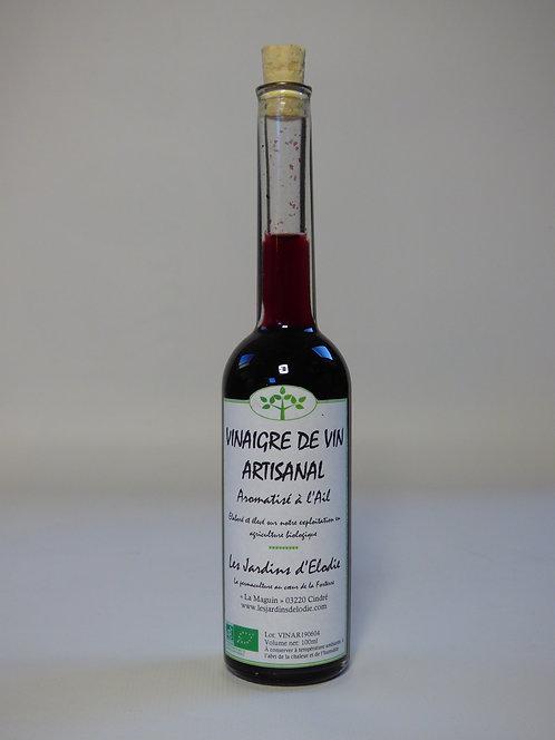 Vinaigre de vin rouge aromatisé à l'ail Bio