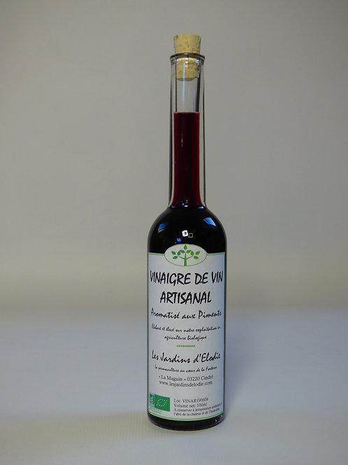 Vinaigre de vin rouge aromatisé au piment Bio