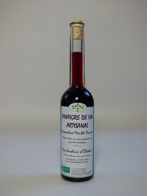 Vinaigre de vin rouge aromatisé à la menthe poivrée Bio