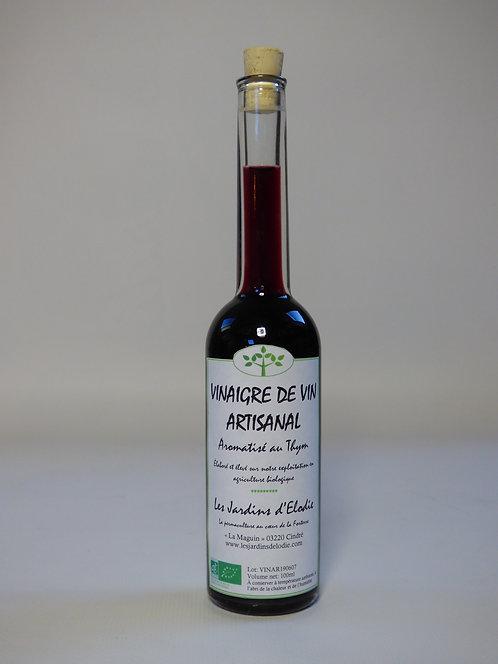 Vinaigre de vin rouge aromatisé au thym Bio