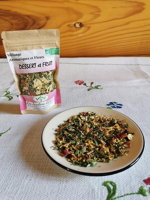 Mélange d'herbe Bio pour Dessert et Fruit