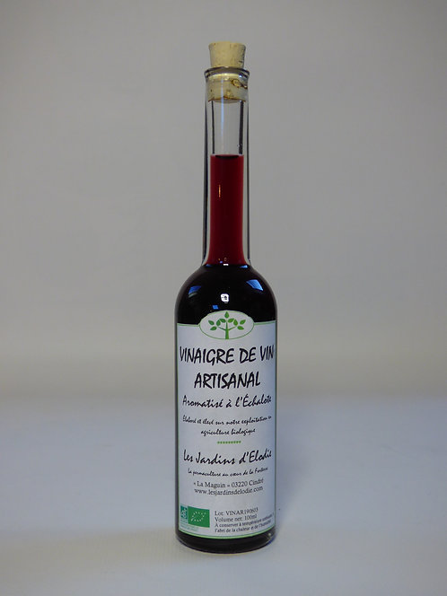 Vinaigre de vin rouge aromatisé à l'échalote Bio