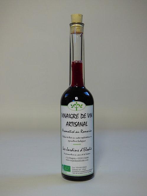 Vinaigre de vin rouge aromatisé au romarin Bio