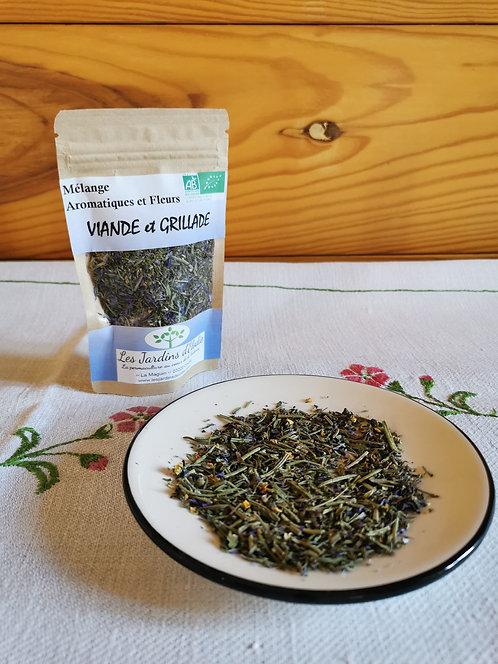 Mélange d'herbe Bio pour Viande et Grillade