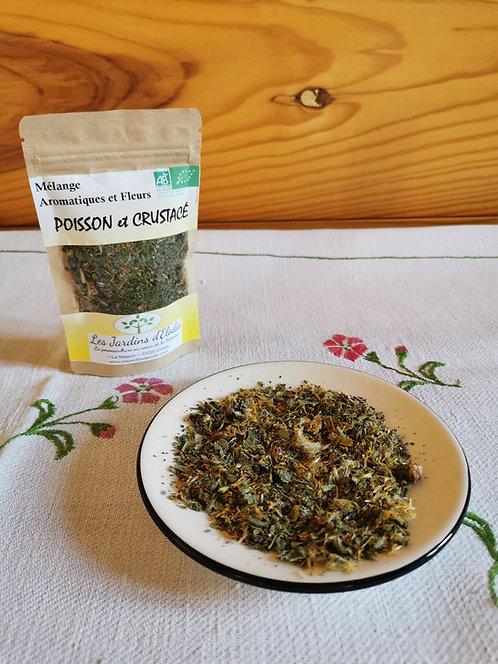 Mélange d'herbe Bio pour Poisson et Crustacé