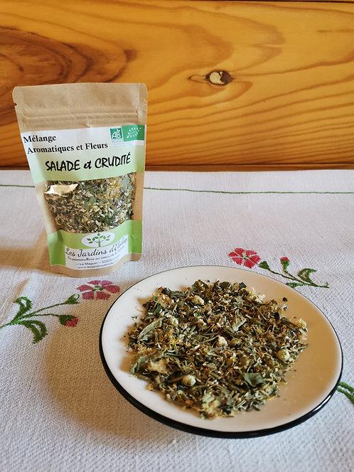 Mélange d'herbe Bio pour Salade et Crudité