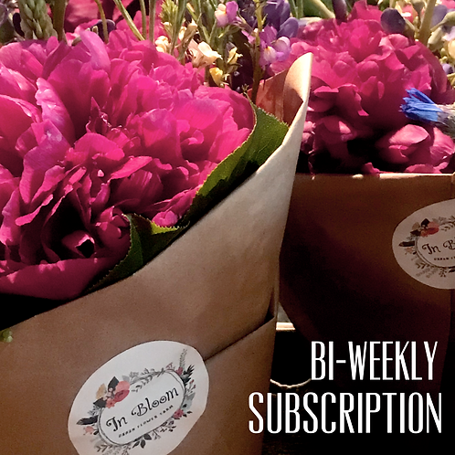 Bi-weekly Flowers, One Payment.