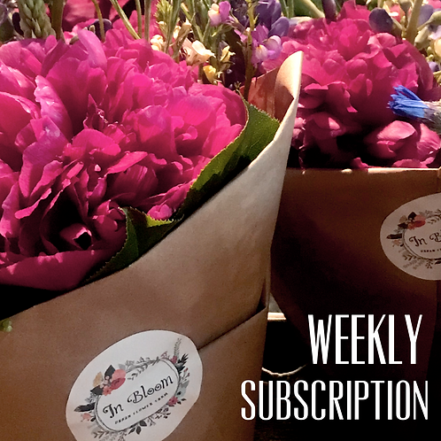 Weekly Flowers, One Payment.
