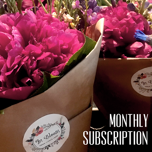 Monthly Flowers, One Payment.