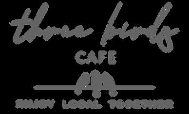 three birds CAFE_White Logo_Tagline_v3d_