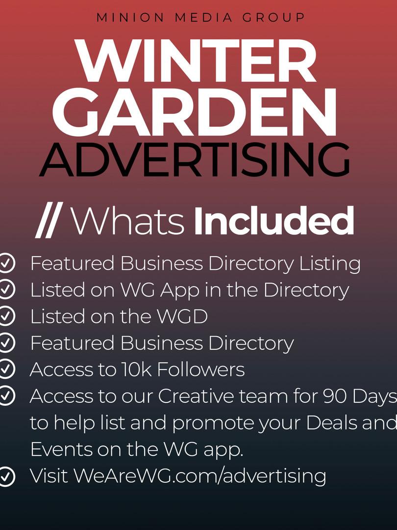 Advertising in Winter Garden