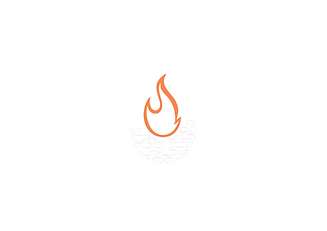Michaels Ali Coal Fire Logo ALPHA_WHITE.