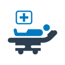 Patient on stretcher icon
