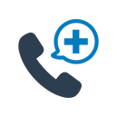 Medical phone call icon