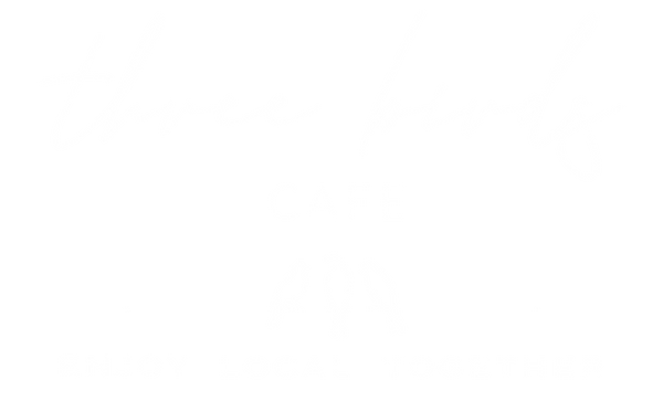 three birds CAFE_White Logo_Tagline_v3dW