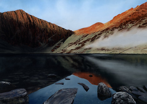 Sunrise over Llyn Cau (original sold, prints available)