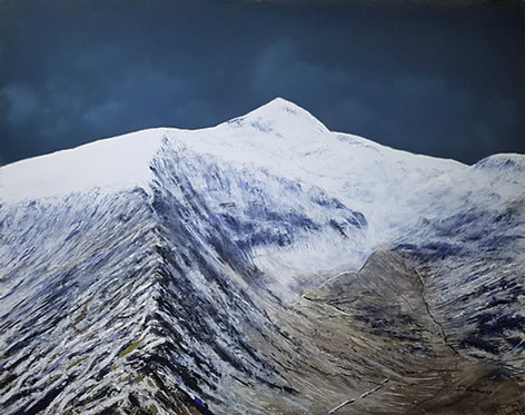 Snowdon in White (original and prints available)
