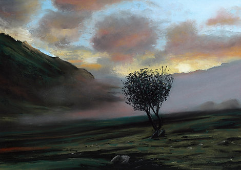 Lone Tree Below Snowdon (original sold, prints available)