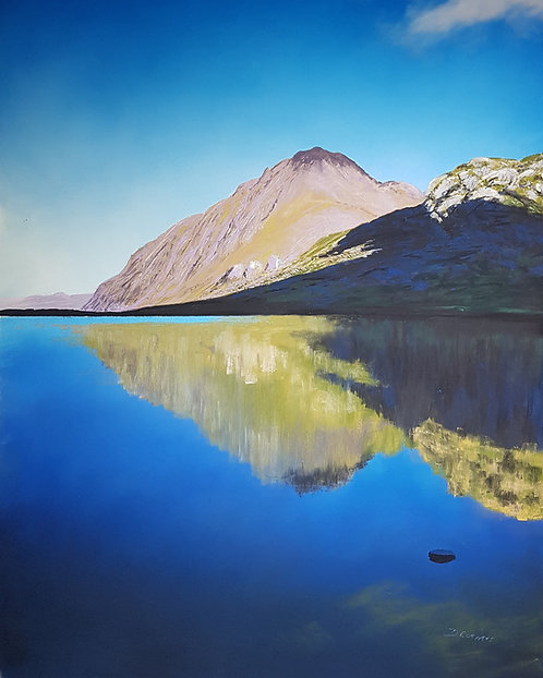 Tryfan over Llyn Idwal (original and prints available)