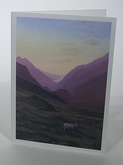 Llanberis Pass at Dusk, Card