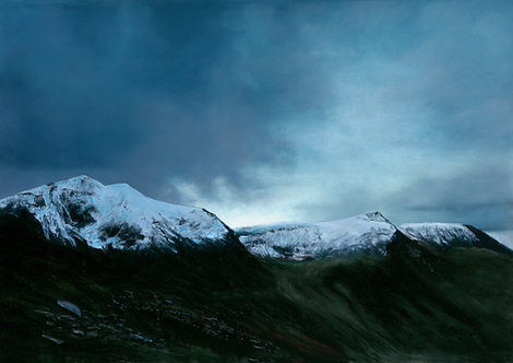 Northern Glyderau Capped with Snow  (original sold, prints available)