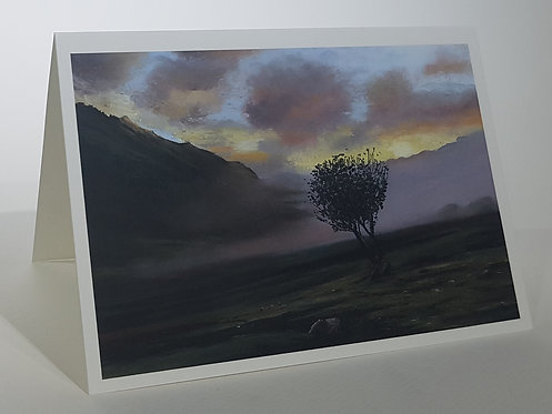 Lone Tree Below Snowdon, Card
