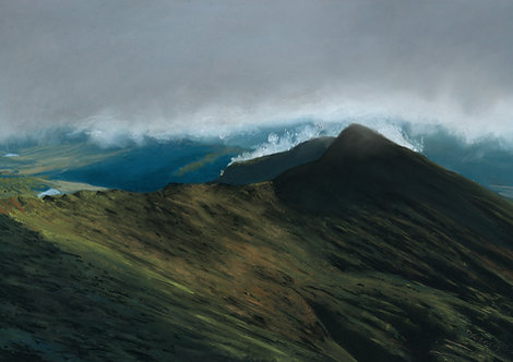 Morning Clouds Over Y Lliwedd (original and prints available)