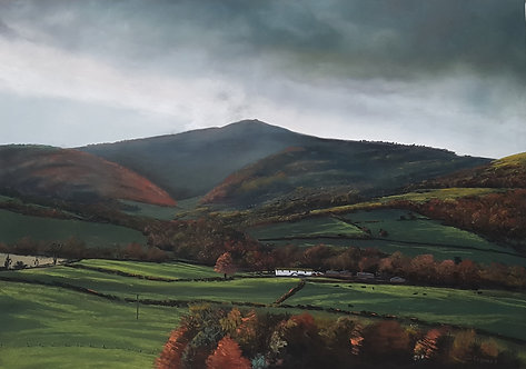 Moel Famau from Loggerheads (original sold, prints available)