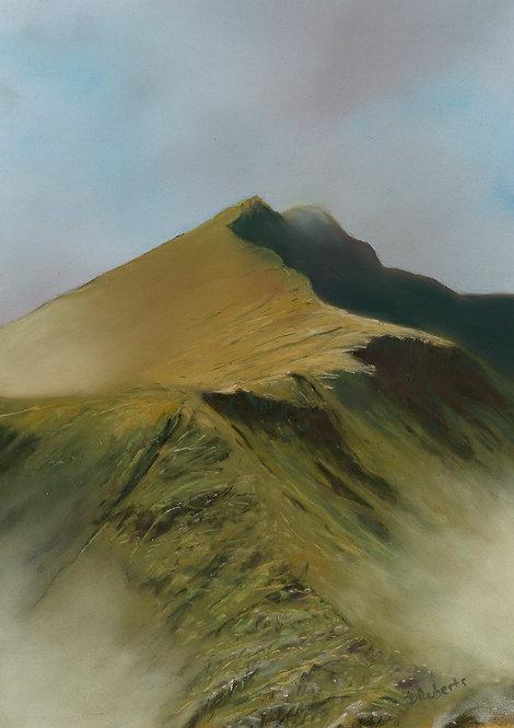 A Brief Glimpse of Y Lliwedd (original sold, prints available)