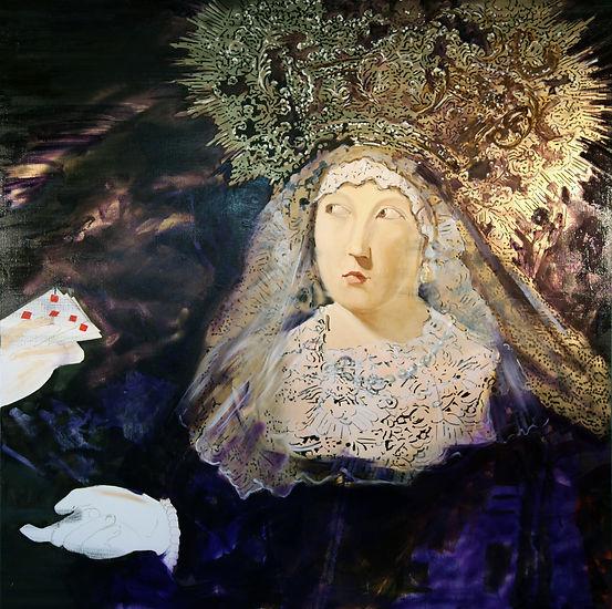 francisco rodriguez del canto, biographie, delcanto, peintre, artiste, peinture, huile sur toile, classico, Virgen