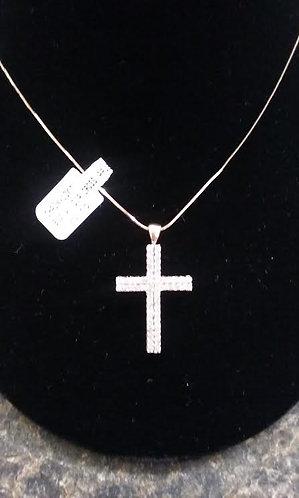 10 ky Box chain with Diamond Cross