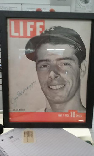 Life Magazine autographed by Joe DeMaggio
