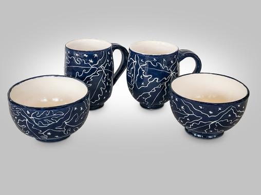 porcelain bowls & mugs 2018