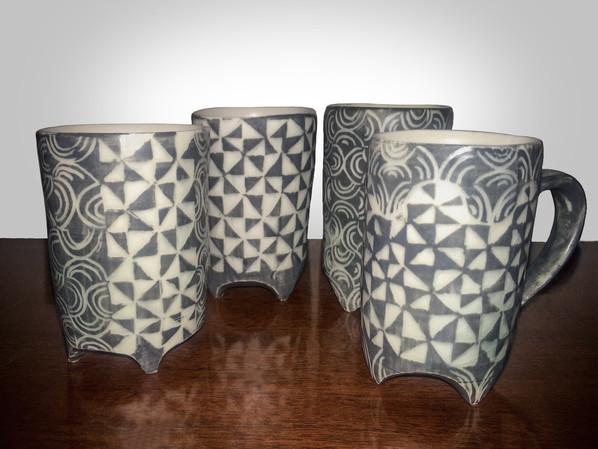 porcelain sgraffiti espresso cups 2015
