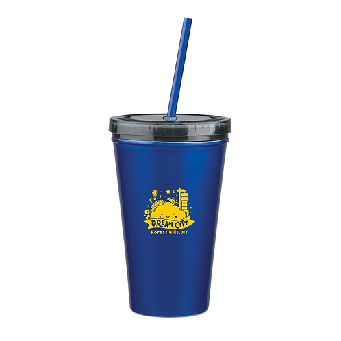 Dual Wall Stainless Tumbler with Straw