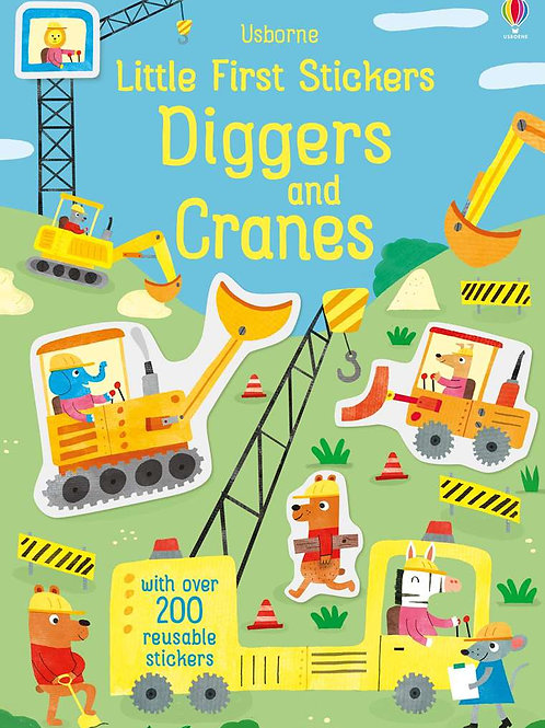 Little Stickers: Diggers and Cranes