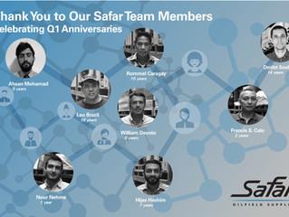 Safar Team | Q1 Anniversaries
