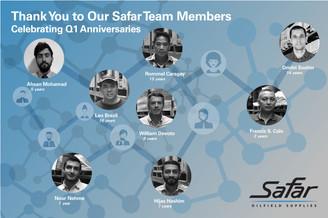 Safar Team   Q1 Anniversaries