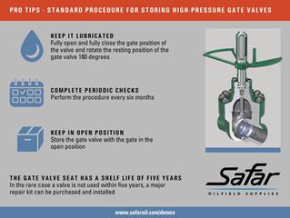 Procedure for Storing Gate Valves