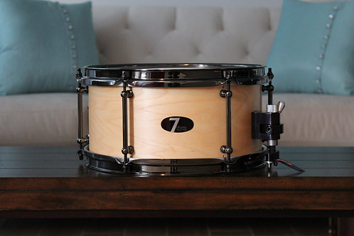 """6"""" x 12"""" 7drums Custom Snare Drum - Natural Stain"""