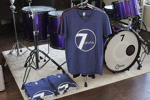 7drums Logo Tee V-Neck