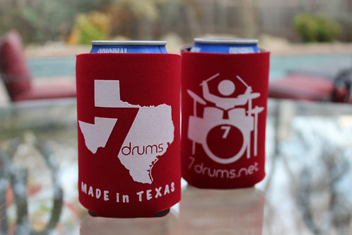 7drums Logo Red Koozie