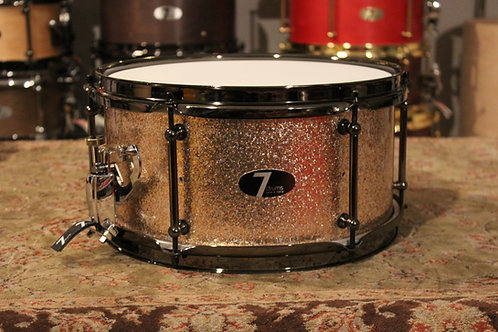 "6"" x 12"" 7drums Custom Snare Drum - Sandstone Sparkle Wrap"