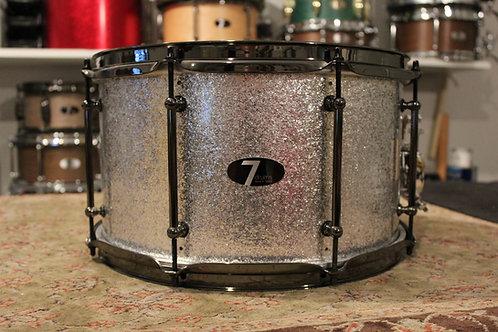 "8"" x 14"" 7drums Custom Snare Drum - Silver Sparkle Wrap"